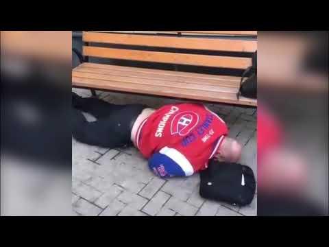 Пьяный Глеб Жемчугов валяется под лавкой на улице (ondom2.com)