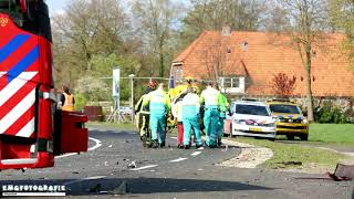 Automobilist met traumahelikopter naar ziekenhuis na ernstig ongeval op de N349 bij Albergen