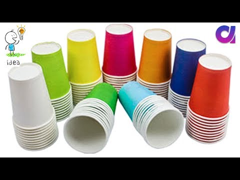 Very easy Disposal Tea Glass reuse idea | Best out of waste | Artkala 333.