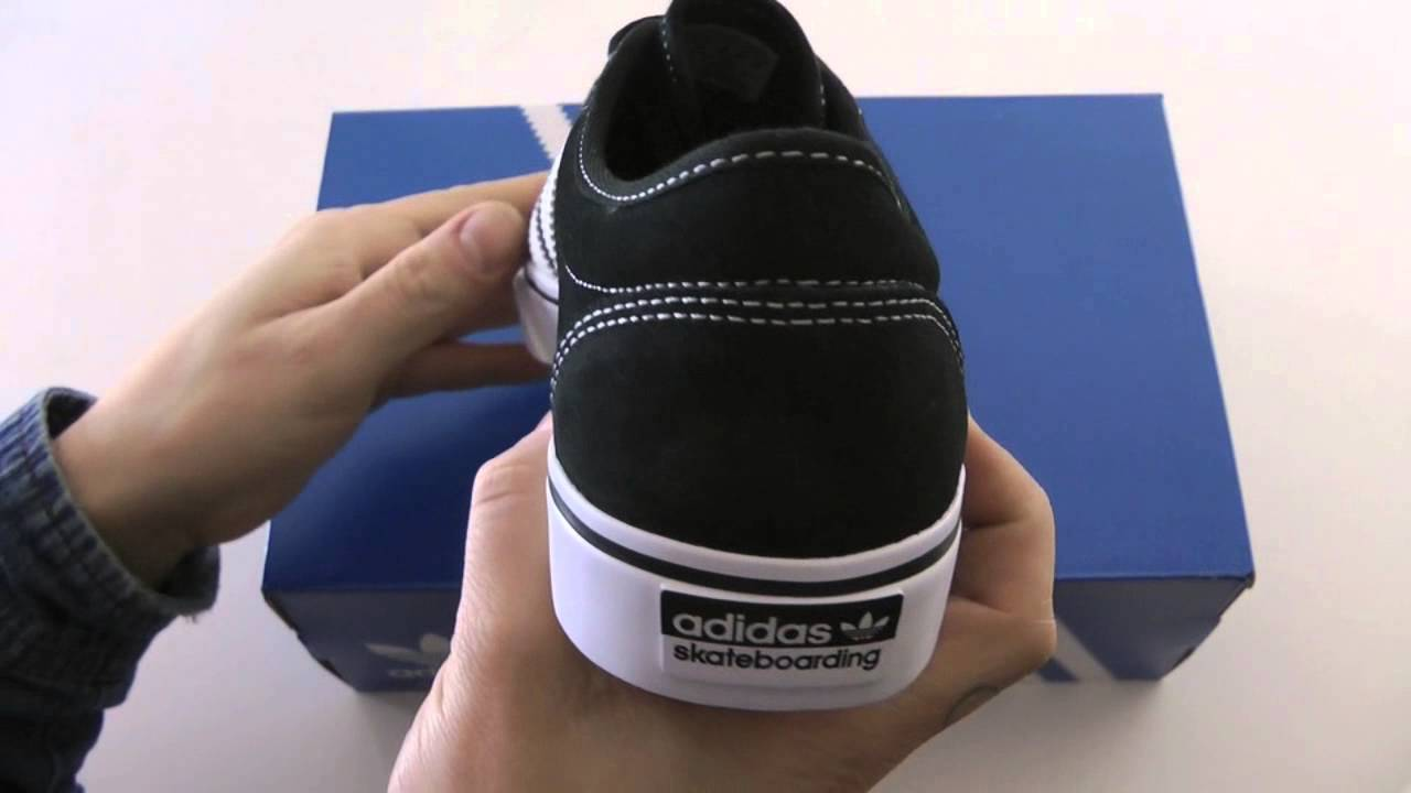 322176cdb71 ADIDAS SKATEBOARDING ADI EASE BLACK WHITE - YouTube