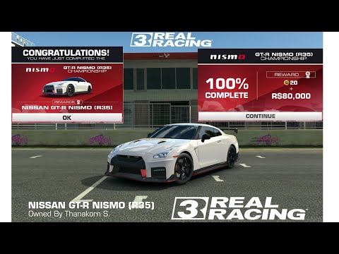 Real Racing 3-Nissan GT-R Nismo R35 Championship COMPLETE