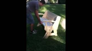 Folding Bench To Picnic Table