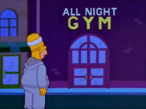 Simpsons - Homer was ist ein gym