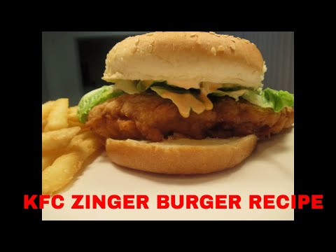 how to cook zinger burger