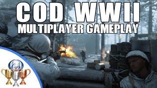 Call of Duty: WW2 Multiplayer Gameplay on Ardennes Forest (Domination) E3 2017 Hands on