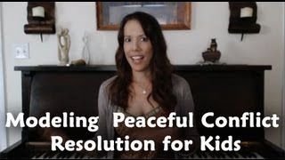 Modeling Peaceful Conflict Resolution for Kids