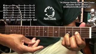 How to Play A CHANGE GONNA COME On Acoustic Guitar Sam Cooke HD Christmas 2017