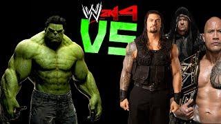 WWE 2K14: HULK VS Roman Reigns, The Rock & The Undertaker [FR//HD]