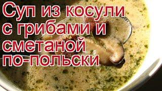 Как приготовить косули пошаговый рецепт - Суп из косули с грибами и сметаной по-польски за 130 минут