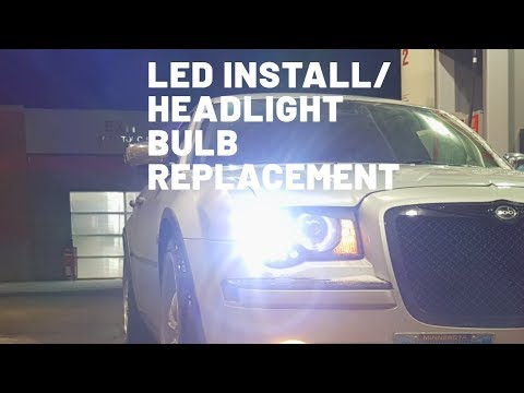 How to replace Headlight Bulbs / LED Install Chrysler 300