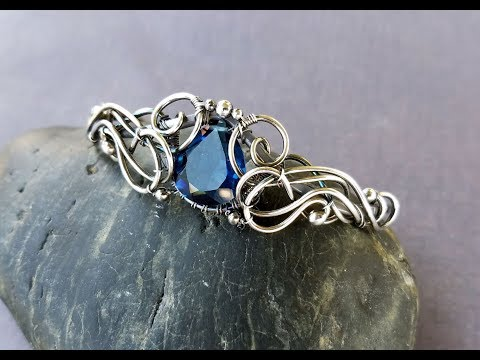 Wire Wrapping Time Lapse Tutorial - Light of September Bracelet