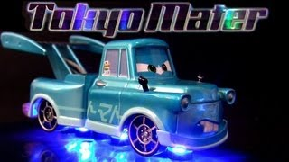 Tokyo Mater with Flames Metallic Finish Comic-Con SDCC Disney Pixar Cars 2 toy review Blucollection
