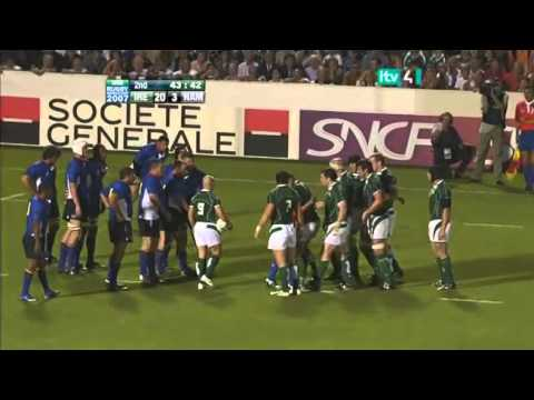 Rugby 2007. Pool D. Ireland v Namibia