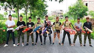 3T Nerf War : Squad Alpha Sniper Assassin Nerf guns Bank Robbery Mission Nerf War
