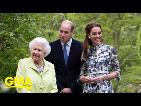 Queen Elizabeth visits Duchess Kate&39;s garden l GMA