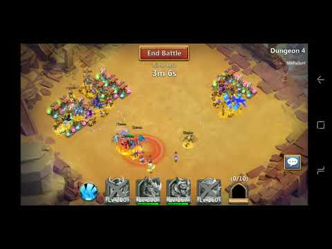 Castle Clash Attempting Arid Ruins With Both Of My Accounts