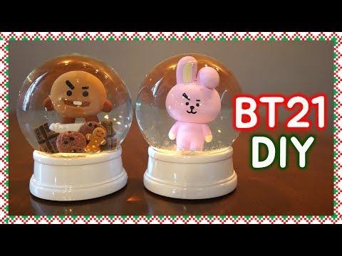 DIY BT21 Snow Globes are sooo cute!!