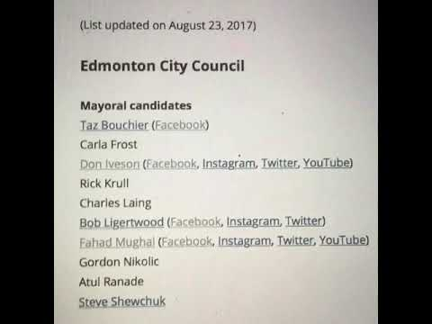 2017 Edmonton election Mayoral Candidates