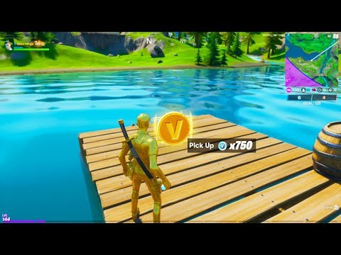 FINDING *NEW* V-BUCK COINS! (Fortnite Gold Coins)