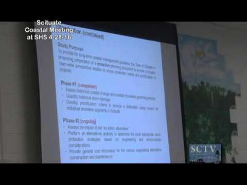 Scituate Coastal Erosion Meeting at SHS 4-28-16