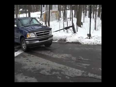 Fixing a bent frame rail on an F-150 - YouTube