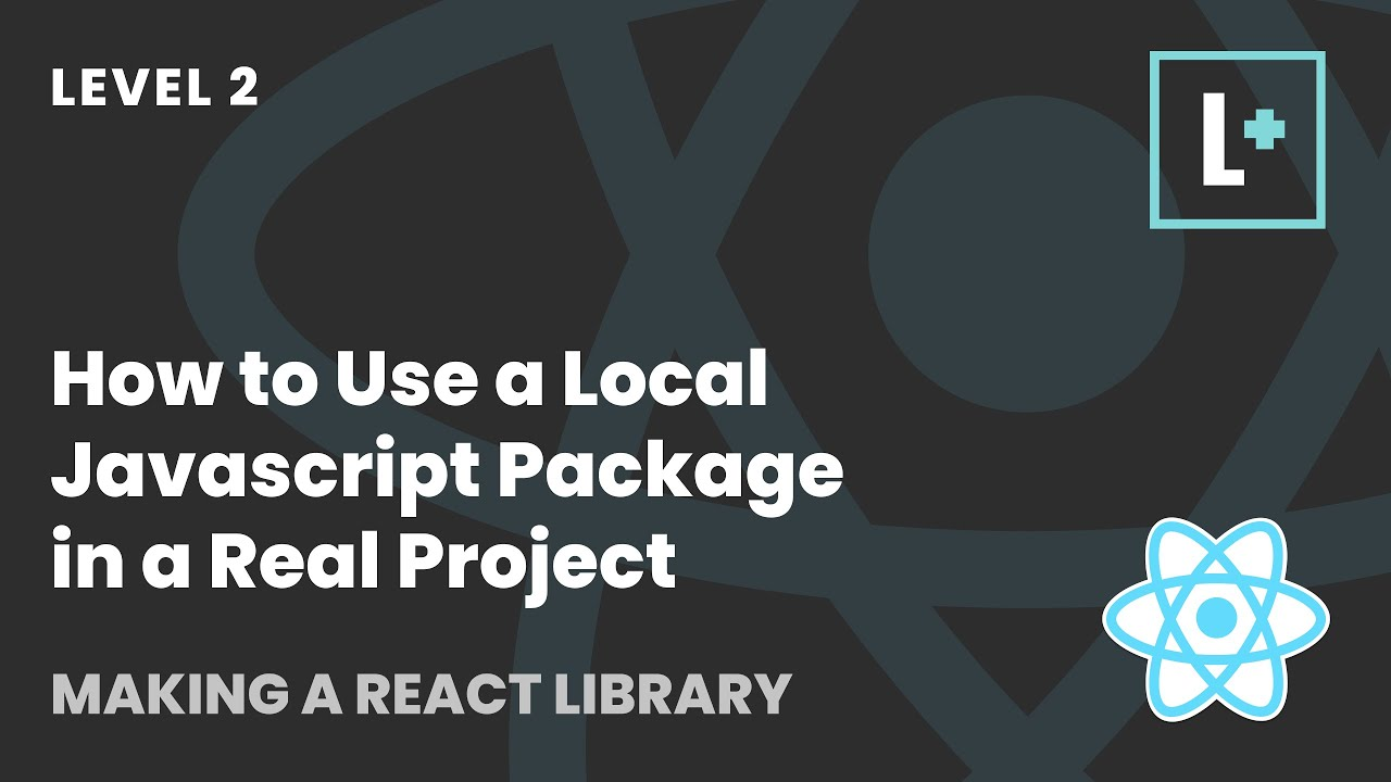 How to Use a Local Javascript Package in a Real Project - Making A React Library