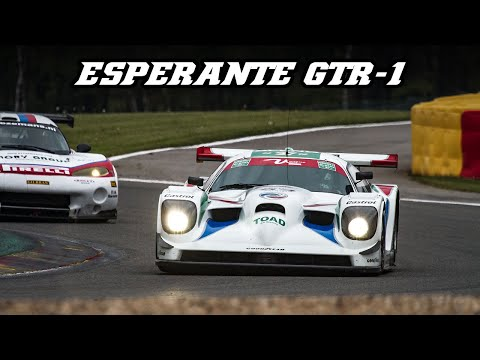 1997 Panoz Esperante GTR-1 - Huge revs, flames, fly-by's & downshifts