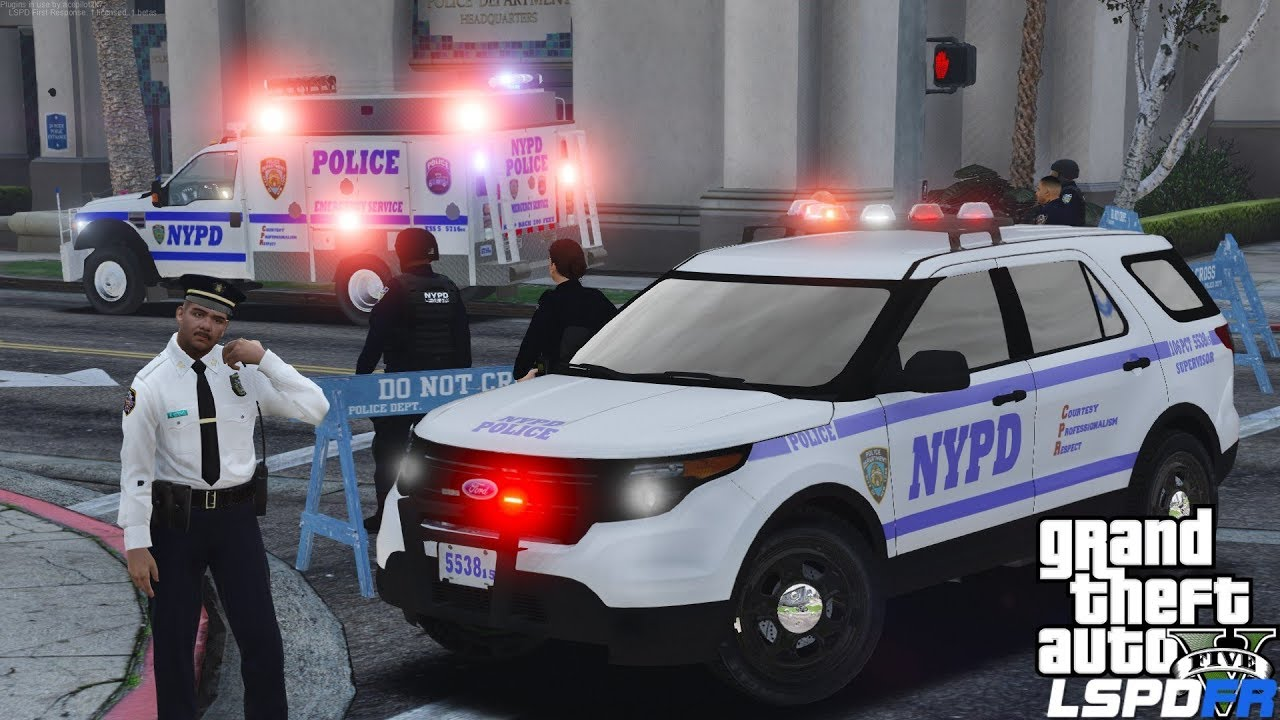 GTA 5 LSPDFR #520 | NYPD Captain Supervising Police Officers On Scene Of A  Protest