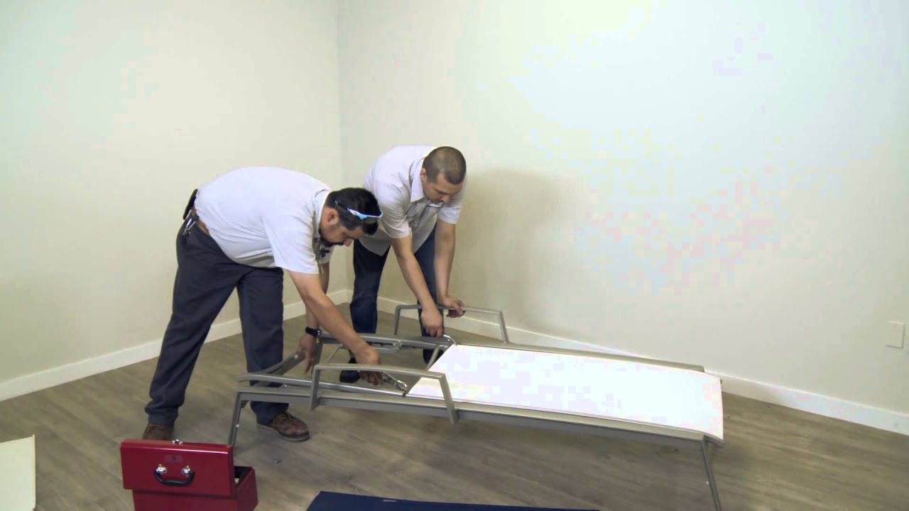 Tropitone How To Replace a Relaxed Sling Chaise Lounge