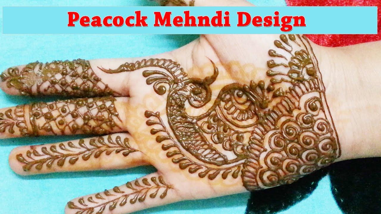 Henna designs peacock henna peacock - Designer Peacock Mehndi Design Latest Mehndi Designs For Hands Step By Step Youtube