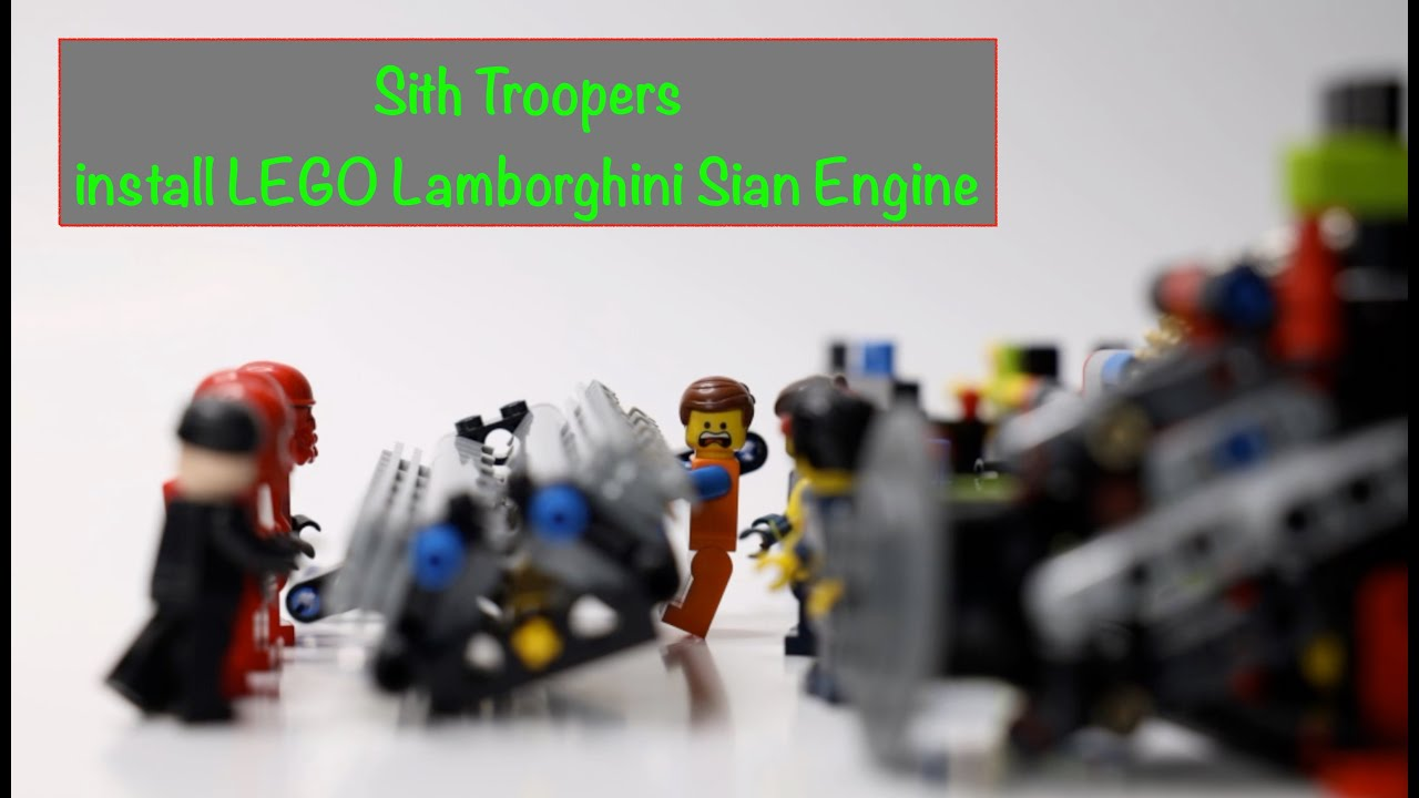 Sith Troopers and LEGO Movie cast help install Lamborghini ...