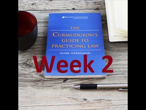 Week 2 on The Curmudgeon