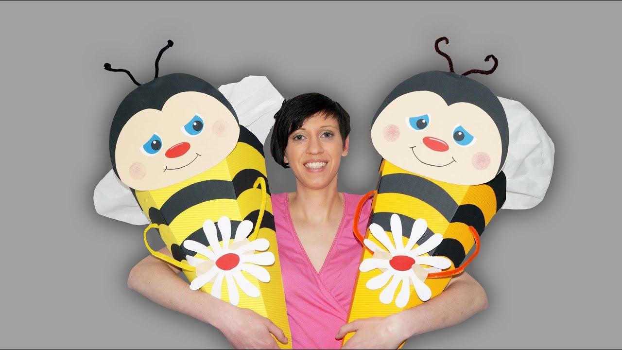 Biene Auf Schultüte Bastelanleitung