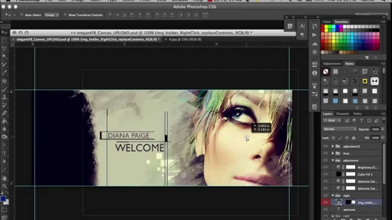 how to make a facebook canvas design in photoshop quickly youtube. Black Bedroom Furniture Sets. Home Design Ideas