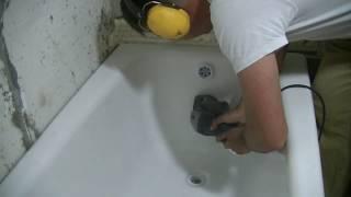 видео Как отремонтировать скол на поверхности ванны? » Аква-Ремонт