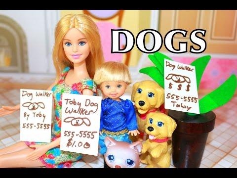 Disney Frozen Anna's Kids Toby New Job Dog Walking Babysitting Barbie Playset Target Toy Stroller