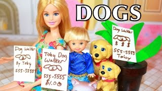 Disney Frozen Anna's Kids Toby New Job Dog Walking Babysitting Barbie Playset Target Toy Stroller
