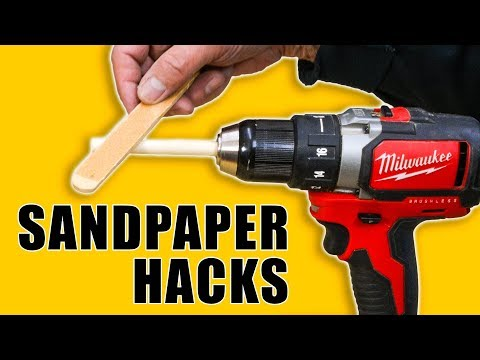 5 Quick Sandpaper Hacks - Woodworking Tips and Tricks