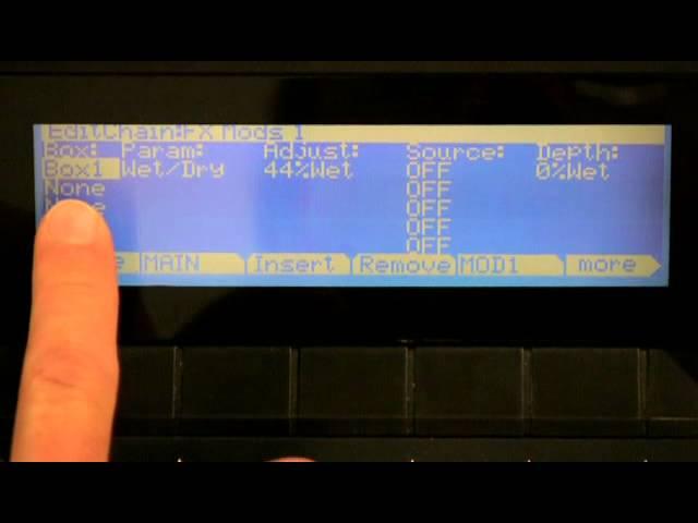 10 Kurzweil PC3 Series: FX Chain Editing