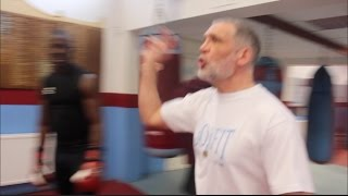 BEASTED! TRAINER HARRY ANDREWS TAKES NO PRISONERS DURING HIS CIRCUITS AT WEST HAM BOYS CLUB