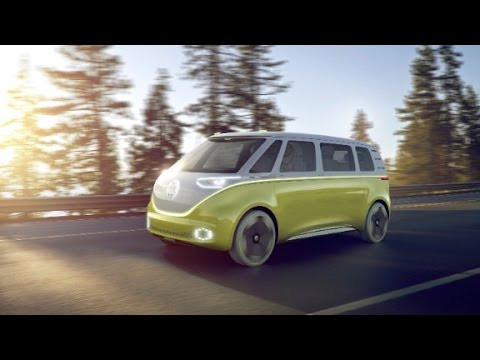 Retro Volkswagen Bus Gets Electric Touch Youtube
