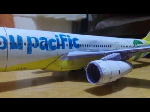 cebu pacific a330 paper model new livery