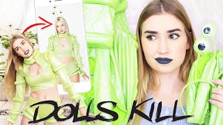 TRYING DOLLSKILL HALLOWEEN COSTUMES .. it got weird again !!