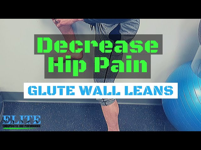 Hip Pain On Stairs Relief | Glute Wall Lean