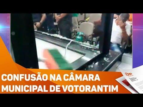 Confusão na câmara municipal de Votorantim - TV SOROCABA/SBT