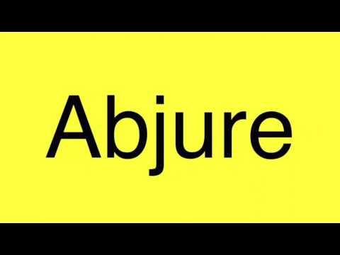 Abjure pronunciation