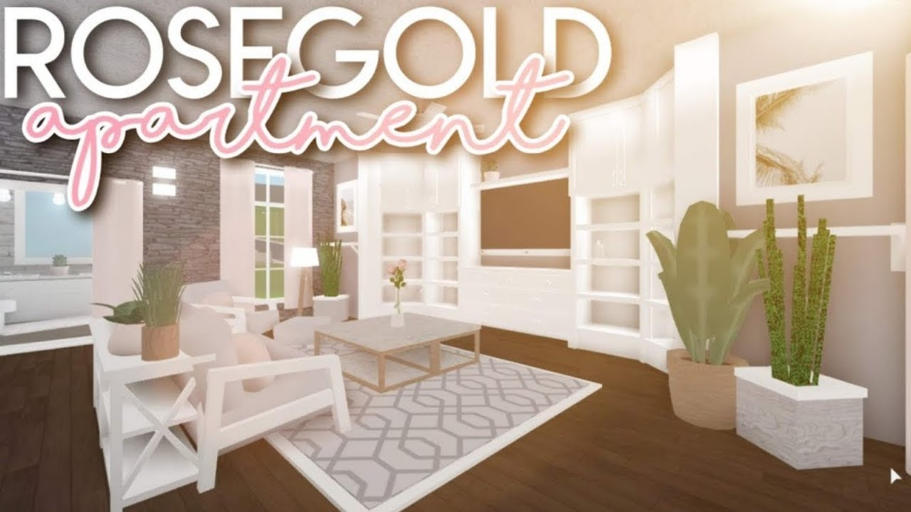 Bloxburg Rose Gold Apartment 30k Youtube