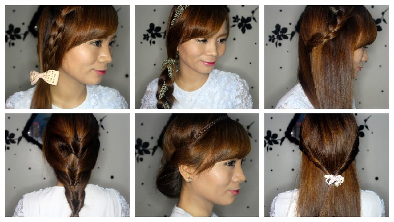 #studyhaul : 6 super easy hairstyles for beginners!