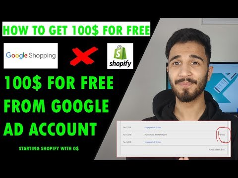 How To GET 100$ For FREE FROM GOOGLE ADS | Shopify Dropshipping in India thumbnail