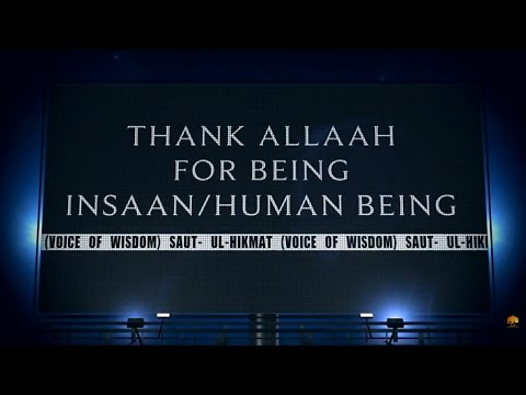 Thank Allaah For Being Insaan/Human Being
